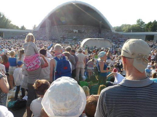Público en el Parke Kadriörg